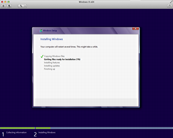 Install Windows 8 on Mac OS X using VMware fusion