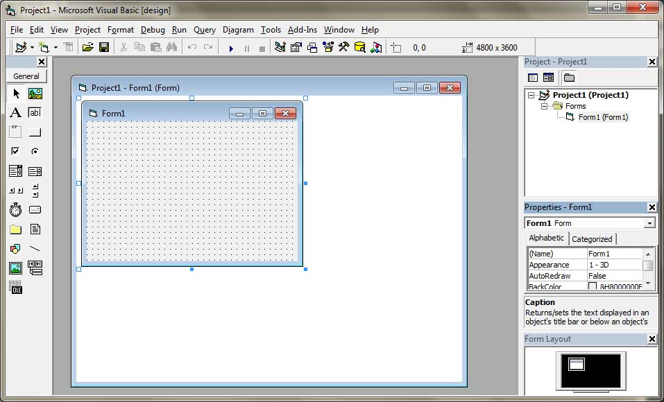 Visual Basic Integrated Development Environment (IDE)