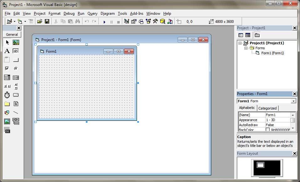 Visual Basic Integrated Development Environment (IDE)